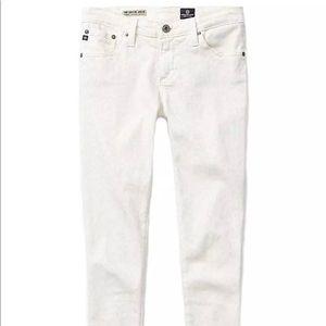 White leopard print AG jeans
